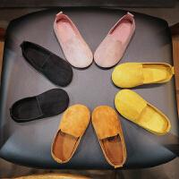 春秋儿童鞋子男童奶奶鞋小皮鞋女童豆豆鞋软底宝宝公主鞋单鞋