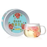 花养花 午后三点玫瑰花茶平阴无硫玫瑰花冠茶花茶花草茶茶叶铝罐装15克