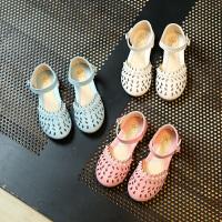 夏季女童凉鞋公主鞋镂空包头宝宝鞋中大童沙滩鞋女童鞋子
