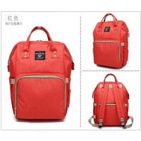双肩包妈妈包韩版多功能母婴包大容量宝妈包时尚外出旅行背包 红色 �