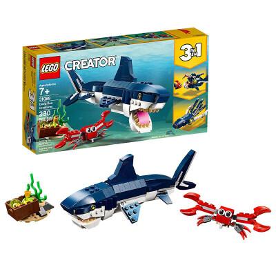 【当当自营】乐高(LEGO)积木 创意百变组Creator 玩具礼物7岁+ 深海生物 31088 【实力宠粉 乐享好价】创意百变3in1,认识更多神秘的深海生物!