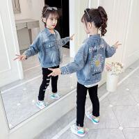 女童牛仔外套春装儿童夹克衫小女孩上衣