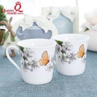 新骨瓷杯子韩式陶瓷杯子马克杯家用杯水杯早餐杯牛奶杯子情侣杯