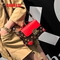 斜挎包女韩版新款潮简约百搭单肩小包包潮包小清新迷你小方包 红色
