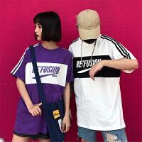 韩版短袖T恤棉学生原宿嘻哈打底衫情侣装男女潮