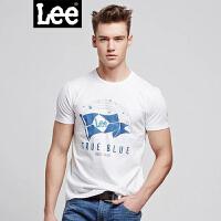Lee男士圆领印花简约短袖T恤L14149866K14