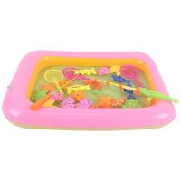 儿童钓鱼玩具池套装益智宝宝公园家庭广场磁性小猫钓鱼1-2-3岁