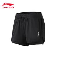 李宁短卫裤女士2019新款训练系列裤子宽松夏季针织运动裤AKSP128