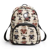 大咖熊【可礼品卡支付】休闲潮流小熊双肩包女式背包书包学生包韩版DK161201