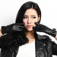 时尚保暖小山羊皮式情侣款韩版蝴蝶结女士皮手套