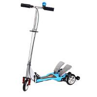 儿童双踏板动力滑板车折叠三轮自助动力蛙式车滑板车