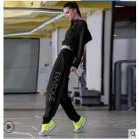 瑜伽服套装女健身房跑步户外运动速干衣胖mm宽松大码