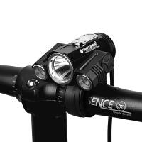 自行车灯T6夜骑强光单车配件骑行装备山地车充电前灯新品