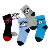 儿童袜子春秋薄款浪莎男童袜子中筒5-7-9-12岁夏季小男孩棉袜