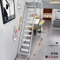 家用铝合金阁楼梯子十步扶梯室内加厚工程梯移动伸缩阁楼梯