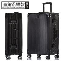 复古直角铝框拉杆箱万向轮20旅行箱24学生行李箱密码登机男女26寸