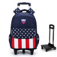 书包中小学生拉杆书包1-3-5年级男女生三轮可折卸6-12周岁双背包