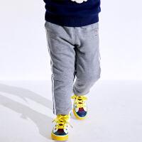 小猪班纳童装男宝宝夹棉长裤2019新款冬装男童加厚裤子小童保暖裤