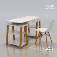 电脑桌简约现代电脑台式桌家用实木腿书桌办公桌写字台