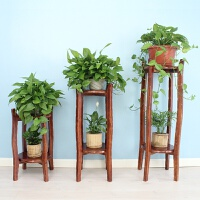 客厅实木花架实木吊兰绿萝花架子室内多层盆景架花盆架子实木花几