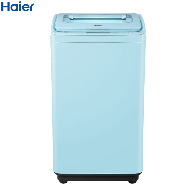 海尔(Haier)洗衣机波轮迷你全自动3.5公斤婴儿儿童小型宝宝洗内衣洗负离子杀菌 XQBM35-168B 天蓝色