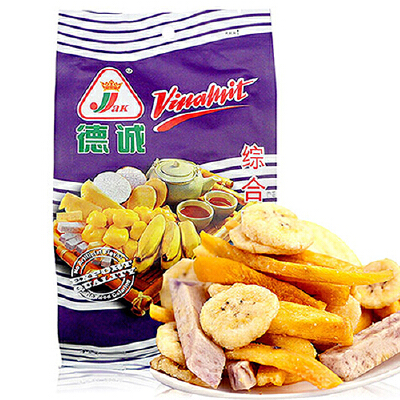 越南进口 德诚 JAK 综合果蔬干 100g蔬菜干 蔬果干 水果干