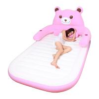 充气床单人家用双人气垫床双人充气床垫加厚折叠便携冲气床空气床新品 藕色 发财猪