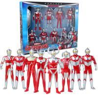 锐视 8个小奥特曼玩具礼盒装 咸蛋超人 儿童玩具模型超人套装 1148101-03组合*