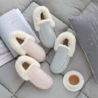 时尚包跟棉拖鞋女秋冬季加绒室内家用厚底保暖家居月子鞋棉鞋女