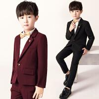 男童小西服套装儿童西装5件套花童礼服秋冬新款钢琴演出服