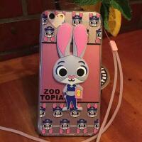 【当当特惠包邮】疯狂动物城手机壳苹果6s带挂脖绳女款兔子朱迪iPhone6plus保护套卡通人物手机套 疯狂动物城人物手机壳 苹果6S手机套