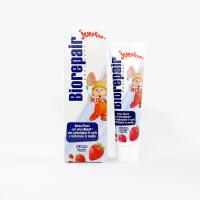 意大利进口贝利达 婴儿草莓牙膏50ML不含氟0-12岁防蛀修复牙釉质