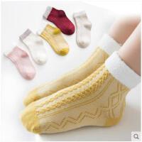 儿童袜子纯棉秋冬新款1-3岁宝宝公主花边袜女学生中筒袜5-7-9-12