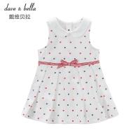 davebella戴维贝拉夏季新装女童连衣裙 宝宝娃娃领背心裙DB5078