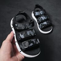 男童凉鞋夏季儿童露趾男孩运动沙滩鞋中大童软底凉鞋