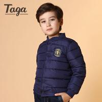 TAGA 2016冬季新款童装男童开衫外套中大童棉袄儿童棉衣棉服