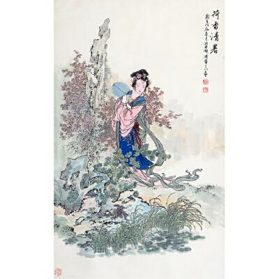 F华三川 荷香清暑 纸本镜片 107*66