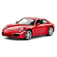 星辉 红色保时捷车模911 卡雷拉S 1:24 合金 汽车跑车56200 不带遥控器