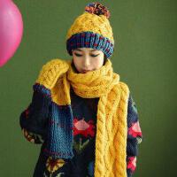 三件套可爱毛线帽加厚保暖套装韩版女生日礼物帽子围巾手套
