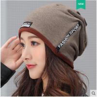 堆堆帽休闲女士头巾帽子女秋冬季包头帽韩版潮套头帽睡帽月子帽