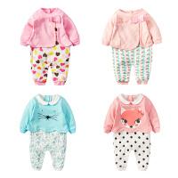 蓓莱乐婴儿连体衣服宝宝新生儿哈衣冬季6冬装1季0岁3个月满月新年
