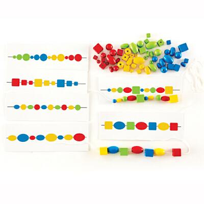 【特惠】Hape动作思维逻辑串珠3-6岁早教益智游戏儿童玩具木制E6312 【德国Hape官方旗舰店】