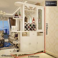 欧式客厅进门玄关柜隔断柜酒柜现代简约双面鞋柜屏风间厅装饰柜子 8805 组装