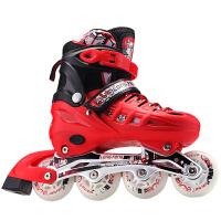 溜冰鞋儿童全套装成人男女童旱冰轮滑鞋闪光5-8-10-16岁大童