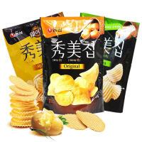 【包邮】韩国进口 农心秀美薯片 原味85g/洋葱味85g/蜂蜜芥末味75g 三袋装