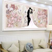 新款点贴钻十字绣5D钻石画满钻客厅卧室浪漫结婚粘砖石秀