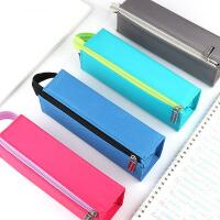 学生笔袋男生 女生 国誉KOKUYO方形对开式大容量笔袋带提手学生文具铅笔笔盒