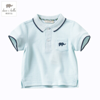 davebella戴维贝拉男女童装夏季新款宝宝短袖polo衫