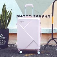 行李箱女拉杆箱小清新旅行箱子母皮箱学生密码箱韩版20万向轮24寸 可爱粉 20寸