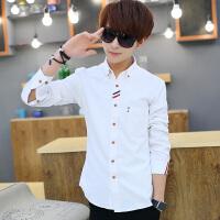 18青少年15纯棉白衬衫男长袖12男孩衬衣13初中学生衬衫16秋装14岁
